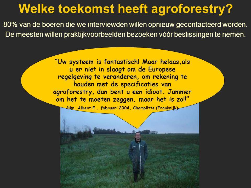 Welke toekomst heeft agroforestry.