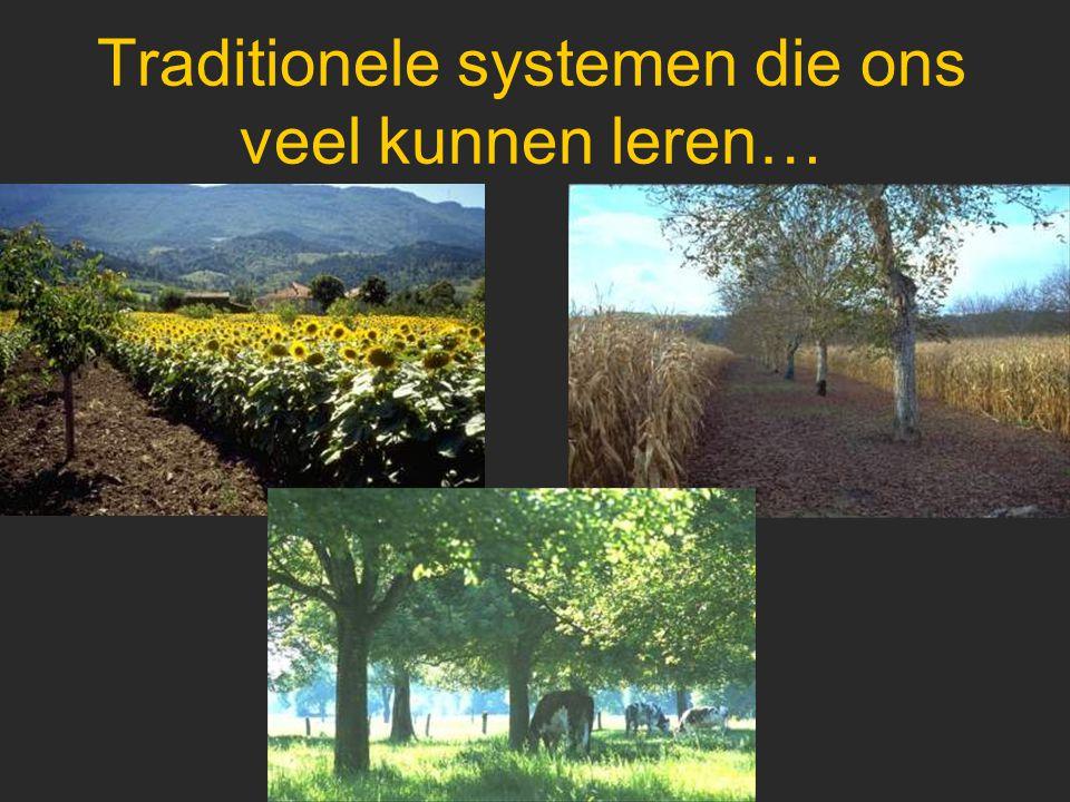 Balans van de bestaande projecten Programma AGROFORESTRY