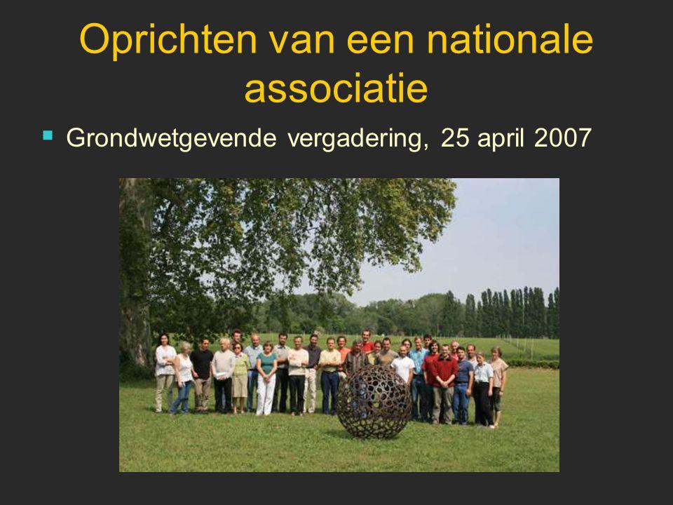 Oprichten van een nationale associatie  Grondwetgevende vergadering, 25 april 2007
