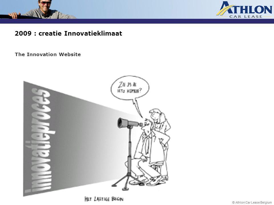 © Athlon Car Lease Belgium 2009 : creatie Innovatieklimaat The Innovation Website