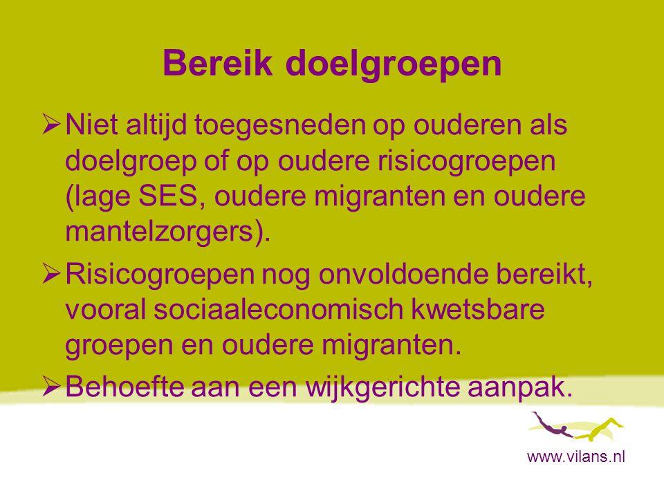 www.vilans.nl Organisatie, financiën en rol gemeenten  Veelheid organisaties.