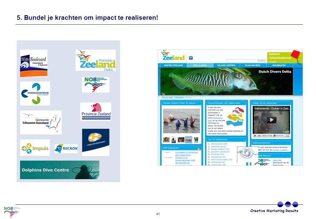 Creative Marketing Results 41 5. Bundel je krachten om impact te realiseren!