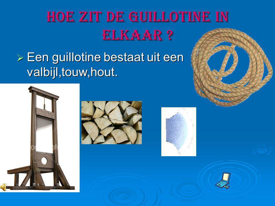 Waarom onder de guillotine .De guillotine als straf.