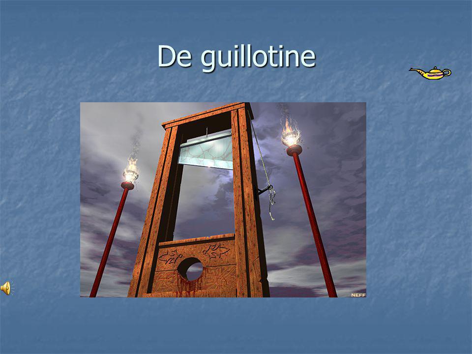 Dood straffen • De guillotine is een van de middelen die gebruikt worden om de doodstraf uit te voeren.