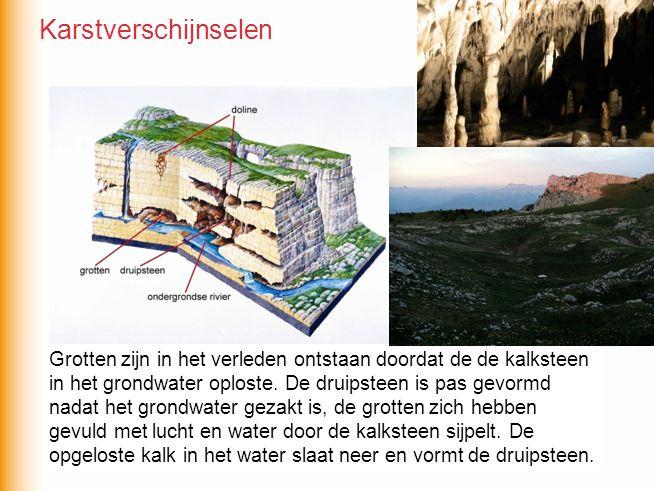 Wat is eerder ontstaan, de grotten of de druipsteen.