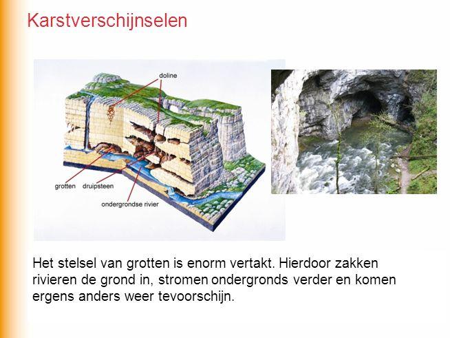 De waterhuishouding van karstgebieden is erg gecompliceerd.