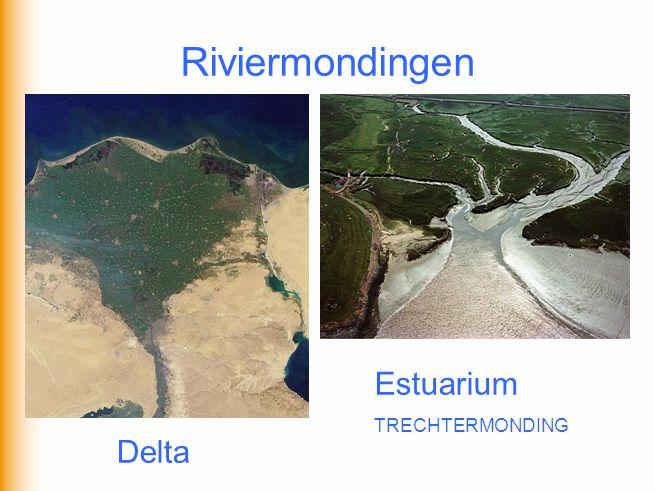 Riviermondingen Delta Estuarium TRECHTERMONDING