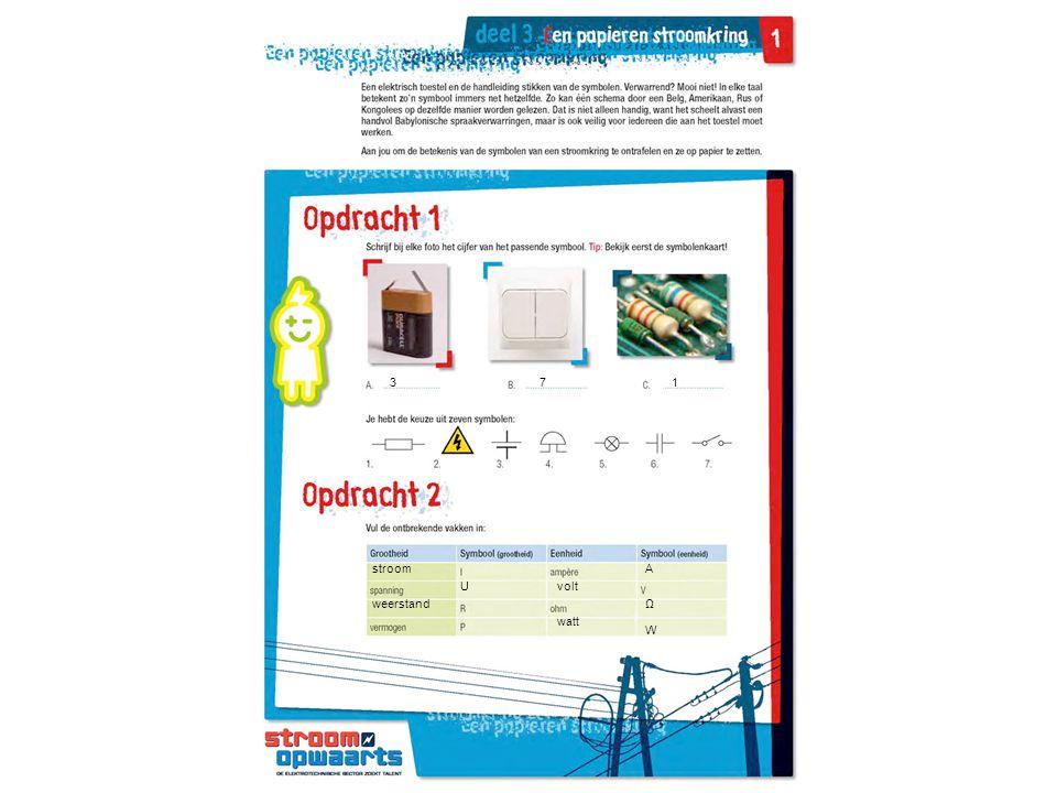 371 stroom weerstand Uvolt watt A Ω W