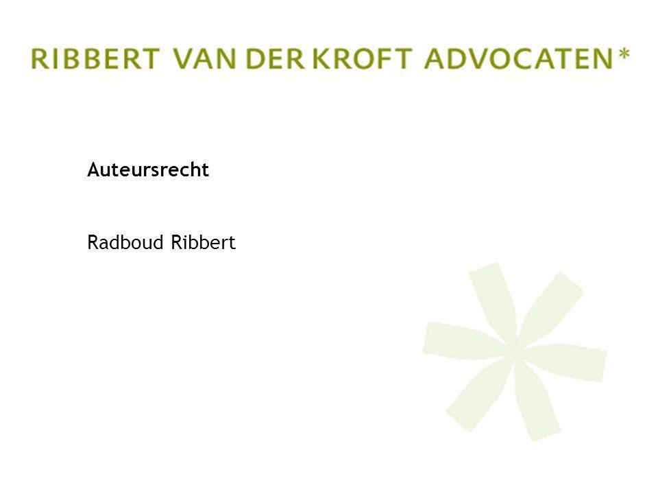 Auteursrecht Radboud Ribbert