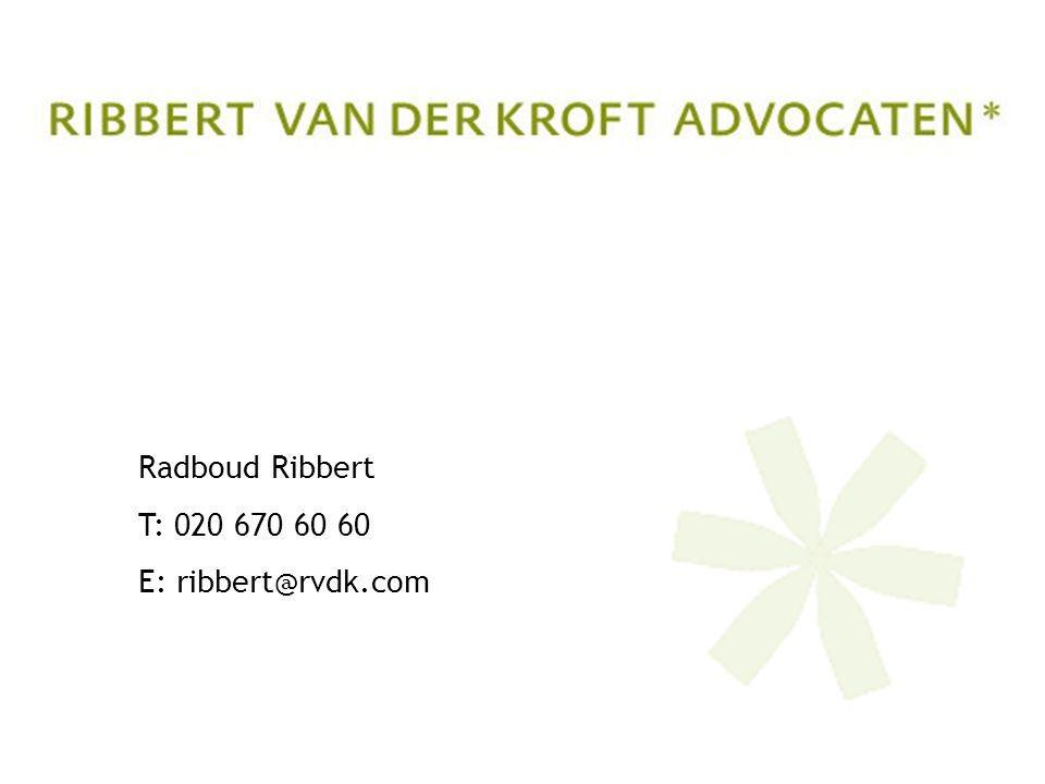 Radboud Ribbert T: E:
