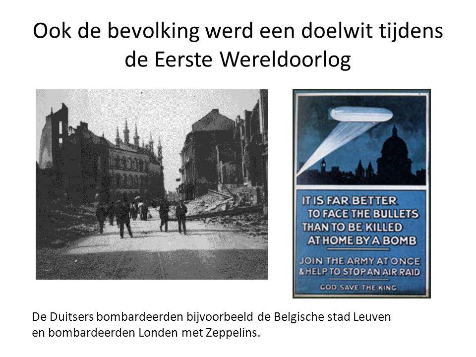 Maar ook Duitsland werd getroffen: • De Engelse marine blokkeerde de Duitse havens.