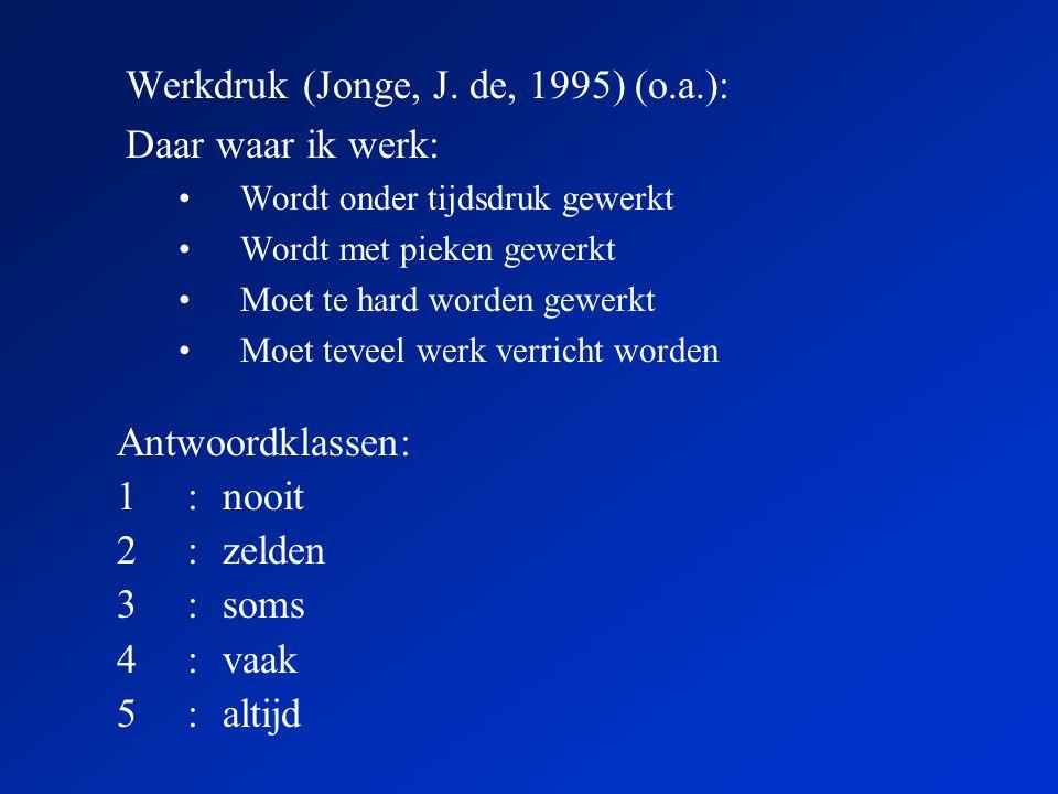 Werkdruk (Jonge, J.