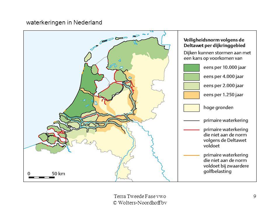 Terra Tweede Fase vwo © Wolters-Noordhoff bv 9 waterkeringen in Nederland