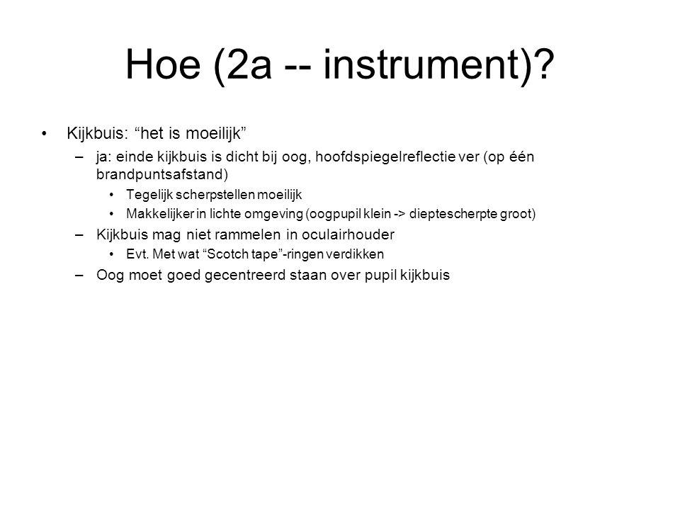 Hoe (2a -- instrument).