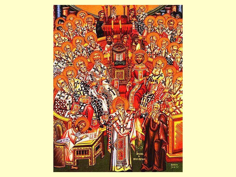 Apostolische constituties, 7,41 – De Zoon Eveneens in de Heer Jezus, de Christus, zijn enige Zoon, de eerstgeborene van de hele schepping, die door het welgevallen van de Vader voor de eeuwen is geboren, niet geschapen, en door wie alles is alles ontstaan wat in de hemel en wat op de aarde is, het zichtbare zowel als het onzichtbare.