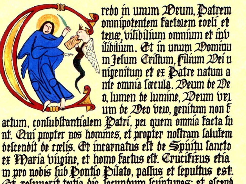 Hippolytus, De Apostolische Overlevering 'De dopeling moet afdalen en wie hem doopt moet hem de vraag stellen: Geloof je in God de almachtige Vader? De dopeling moet antwoorden: Ik geloof .