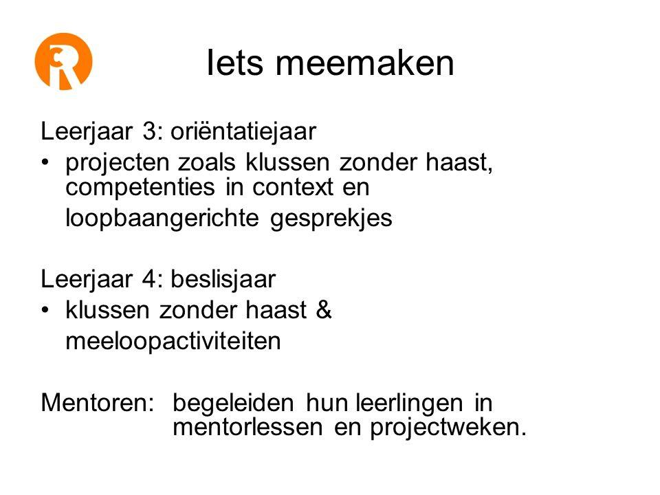 Van de 25 mbo competenties In het vmbo •Samenwerken •Presenteren •Onderzoeken •Leren en reflecteren •Plannen en organiseren