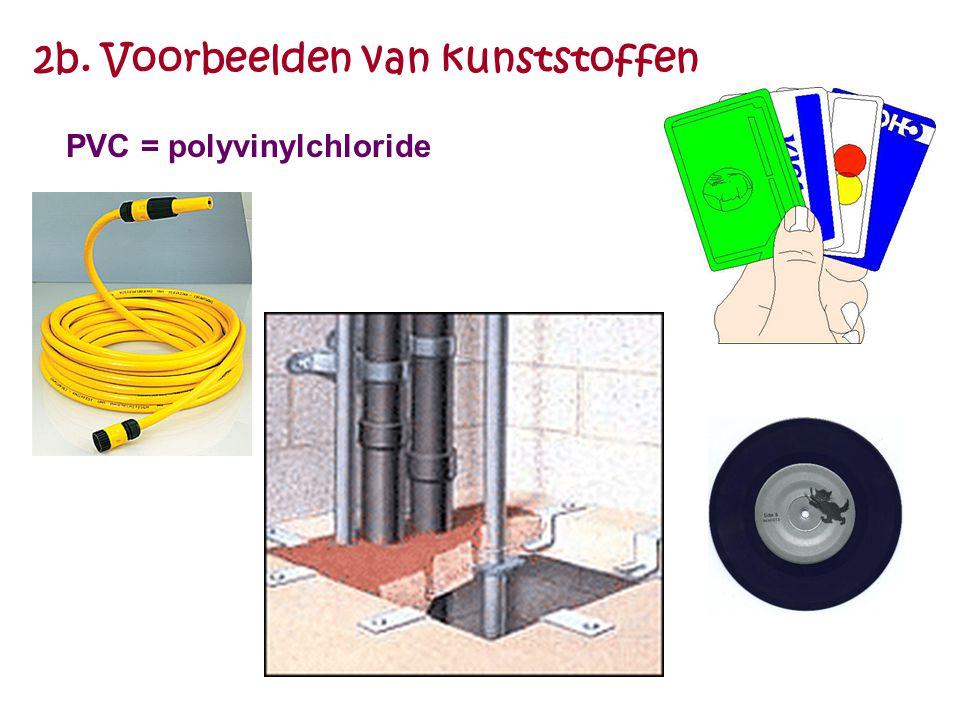 2b. Voorbeelden van kunststoffen PVC = polyvinylchloride