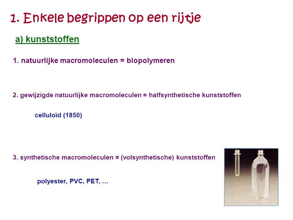 Eerste synthetische kunststof in 1909 = bakeliet door de belg Baekeland (1863-1944)
