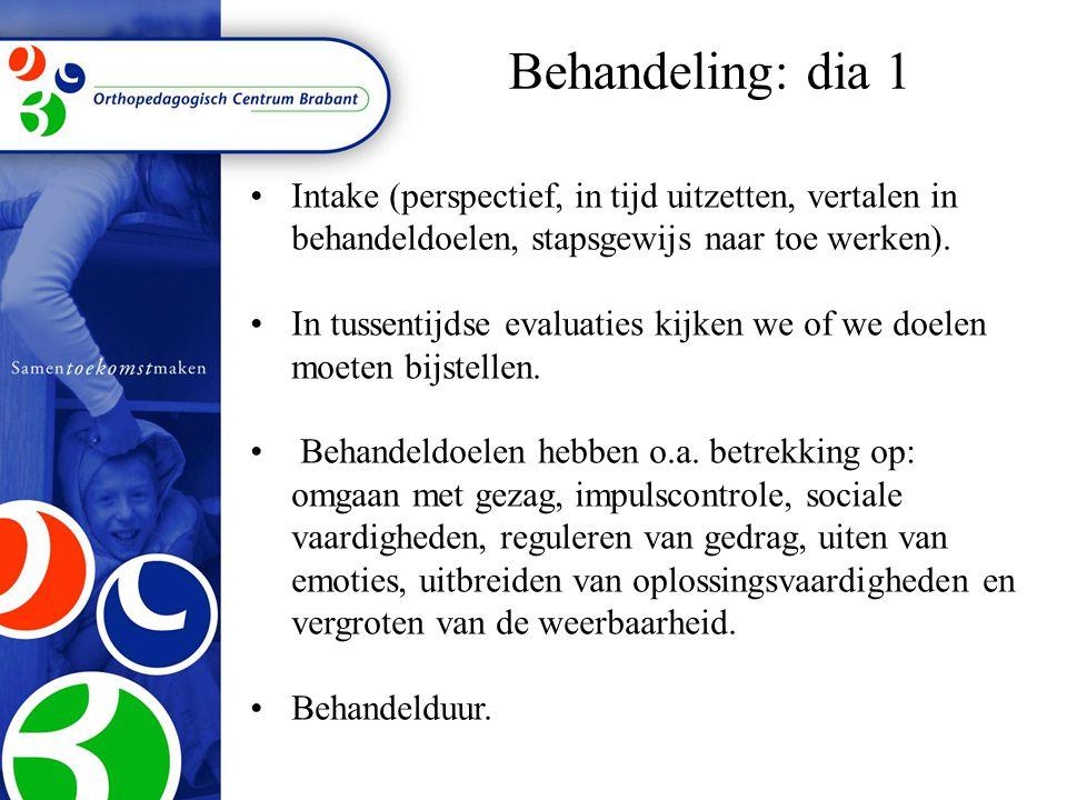 •Intake (perspectief, in tijd uitzetten, vertalen in behandeldoelen, stapsgewijs naar toe werken).