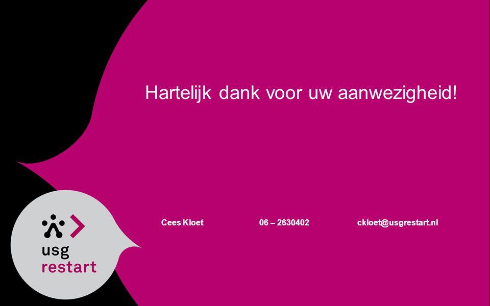 Cees Kloet06 – 2630402ckloet@usgrestart.nl Hartelijk dank voor uw aanwezigheid!