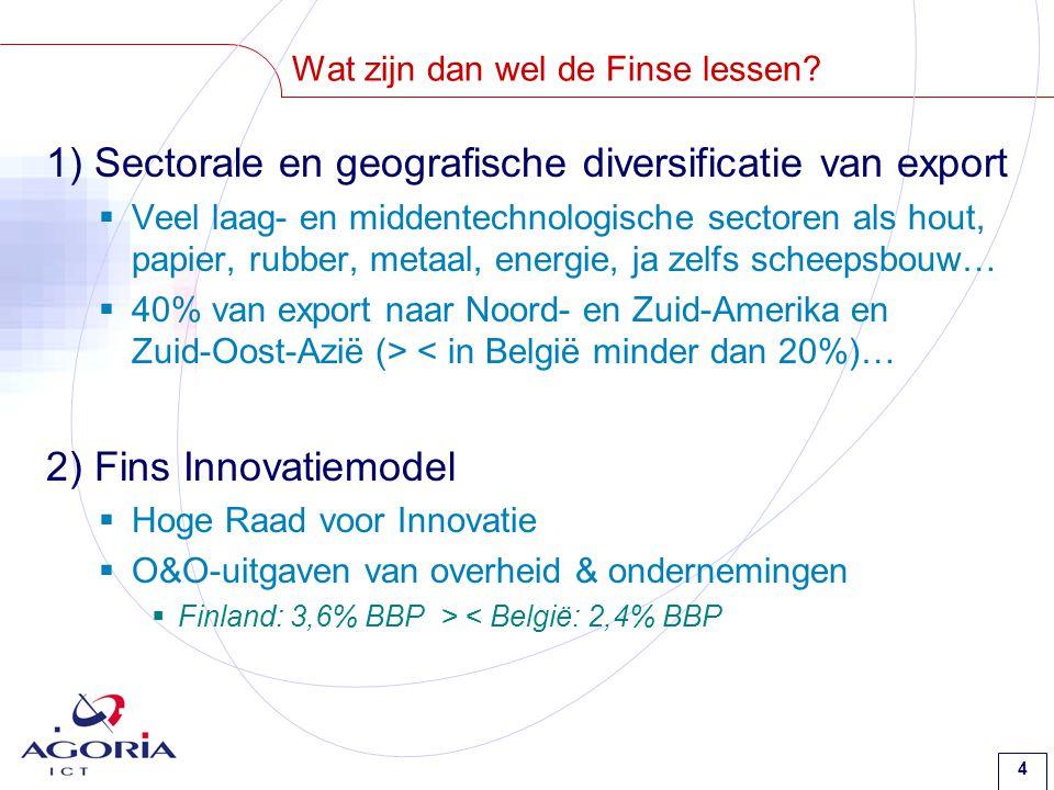 15 Lessen voor België 2) Noodzakelijke ingrediënten voor de kenniseconomie.