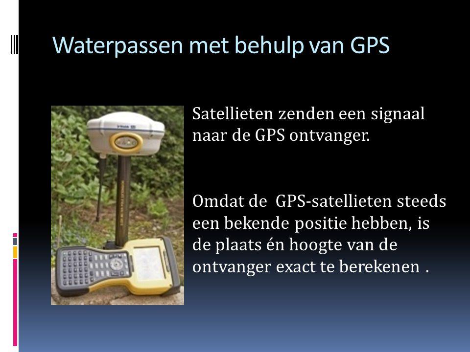 Optisch waterpassen Als een bepaalde hoogte in de omgeving bekend is, kun je met dit instrument ook van een ander punt in de buurt de hoogte meten.