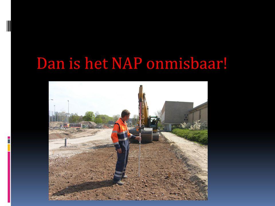 Waarvoor wordt het NAP gebruikt? Het water stijgt, maar je weet niet hoeveel en hoe hoog de dijken zijn……… www.gisactief.nl/NAP/