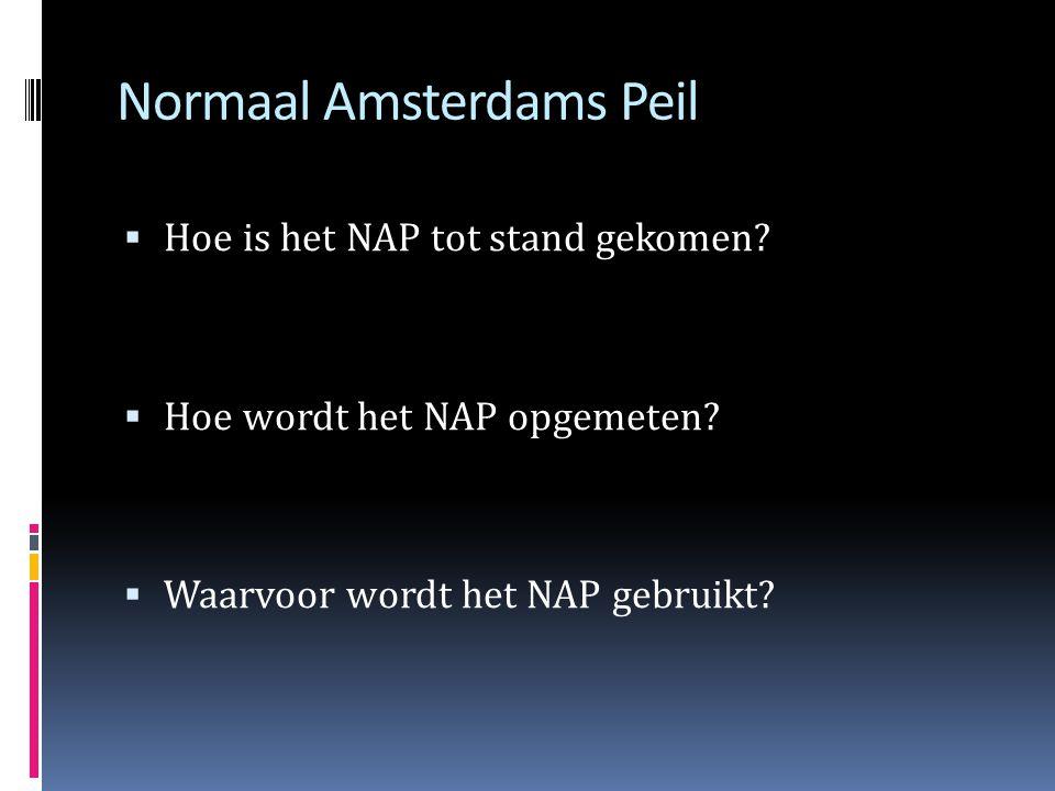 Normaal Amsterdams Peil  Hoe is het NAP tot stand gekomen.