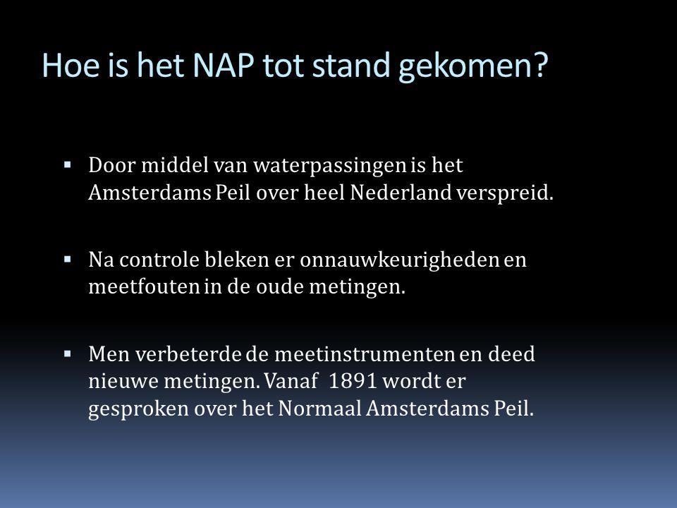 Hoe is het NAP tot stand gekomen?  Deze Huddestenen werden gebruikt om de waterstand te meten.  De groef in de steen gaf aan hoe hoog de dijk moest
