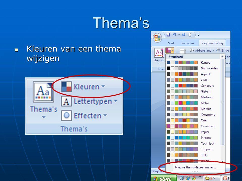 Opmaakprofielen of stijlen   Stijlen •Selecteer een tekst en pas het lettertype, grootte, kleur e.d.