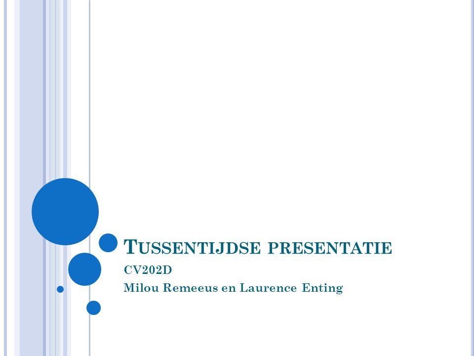 T USSENTIJDSE PRESENTATIE CV202D Milou Remeeus en Laurence Enting