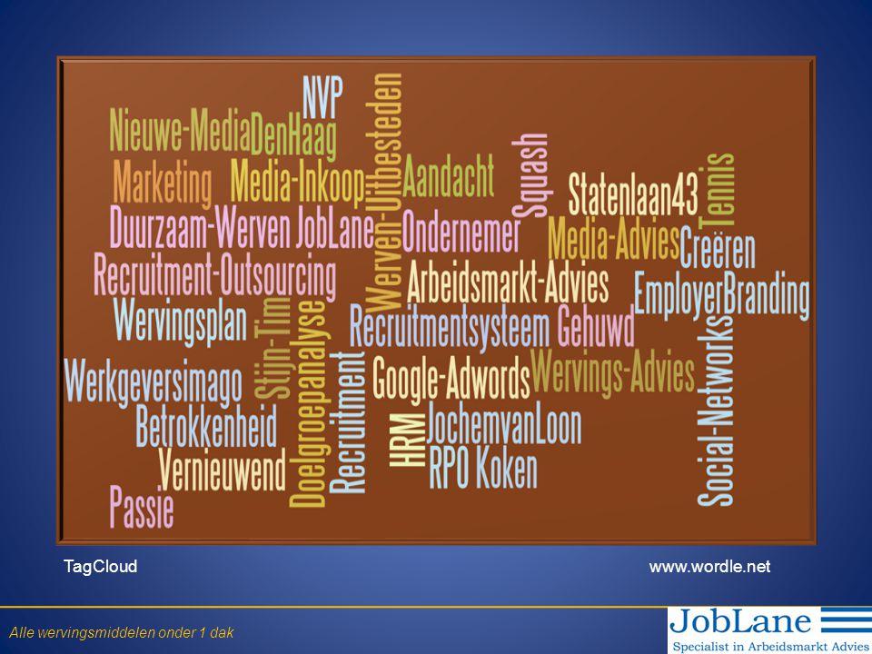 De medewerkers Betrek de medewerkers in Recruitment: Referral recruitment de meest effectieve manier om betere kwaliteit personeel te werven • Lage kosten • Bovengemiddeld hoge kwaliteit kandidaten • Snelle resultaten • Betrouwbare bron (via eigen medewerkers) • Minder verloop van personeel Alle wervingsmiddelen onder 1 dak