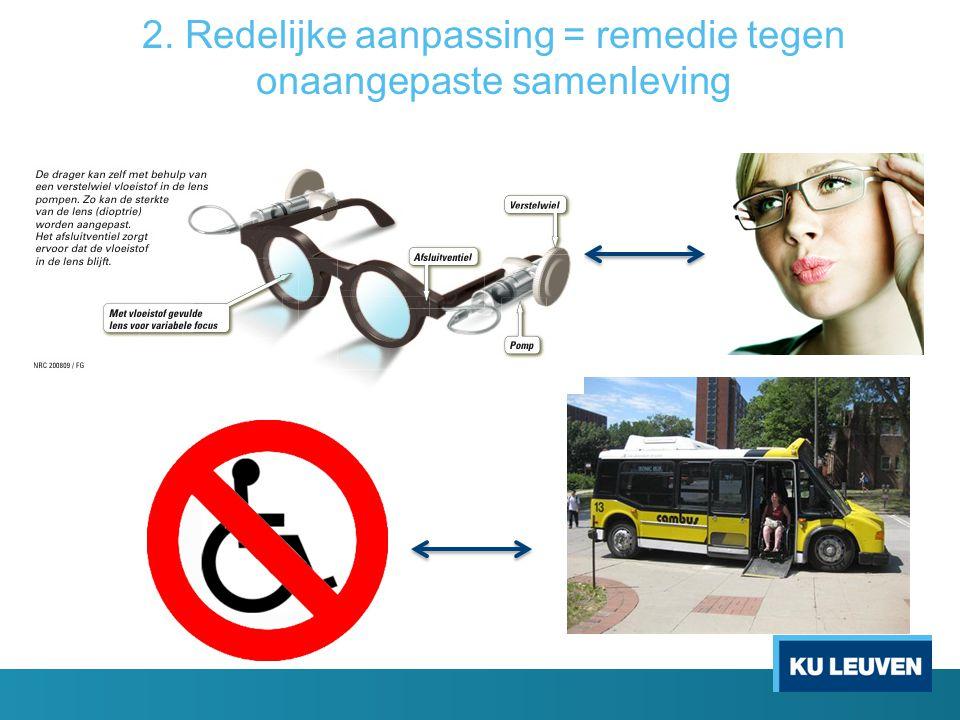 2. Redelijke aanpassing = remedie tegen onaangepaste samenleving