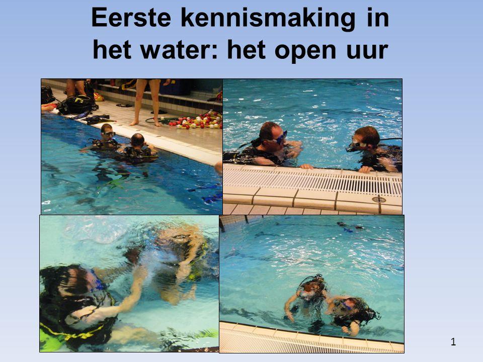 Eerste kennismaking in het water: het open uur 1