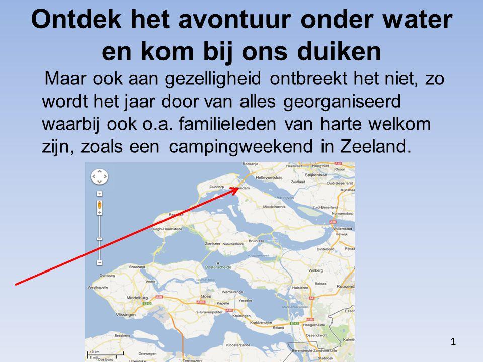 Ontdek het avontuur onder water en kom bij ons duiken Duikvereniging de Kruikeduikers is aangesloten bij de Nederlandse Onderwatersport Bond (NOB).