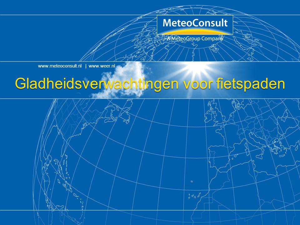 Gladheidsverwachtingen voor fietspaden www.meteoconsult.nl | www.weer.nl