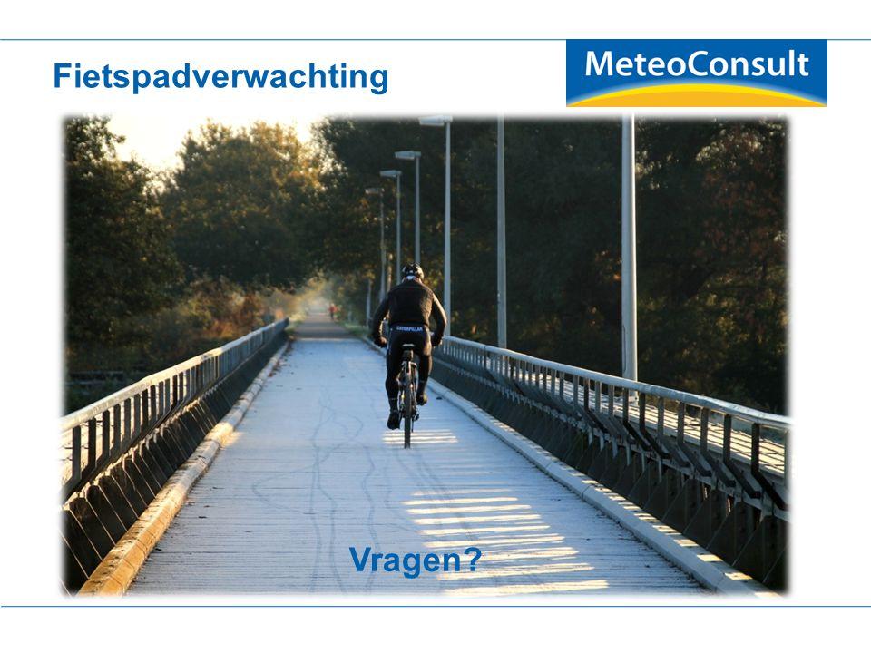 Gladheidsverwachtingen voor fietspaden en voetgangersgebieden Vragen? Fietspadverwachting Vragen?