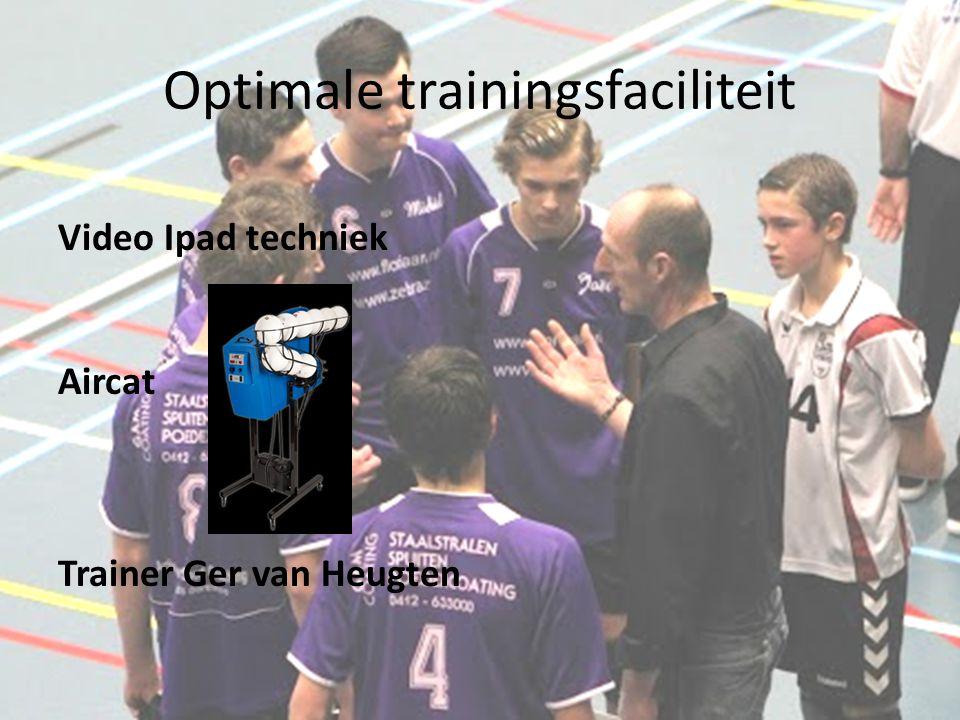 Optimale trainingsfaciliteit Video Ipad techniek Aircat Trainer Ger van Heugten