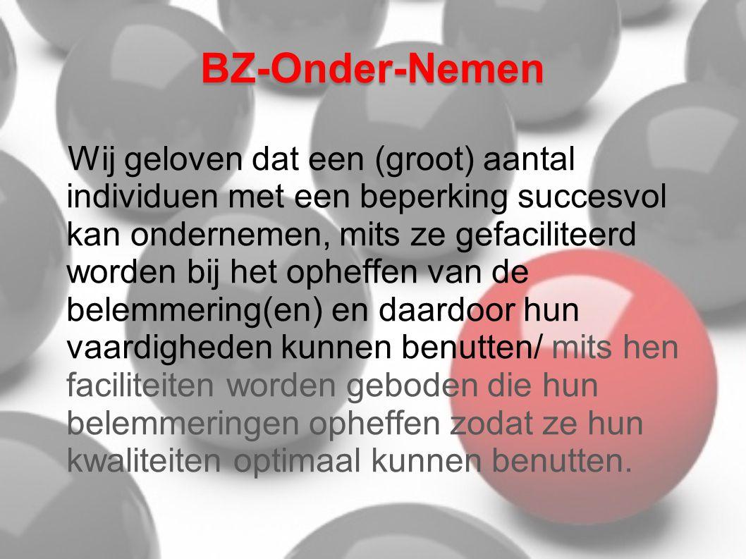 BZ-Onder-Nemen Alhoewel BZ-Onder-Nemen openstaat voor ieder zoals hiervoor vermeld, hebben we dit verder uitgewerkt voor mensen met autisme.