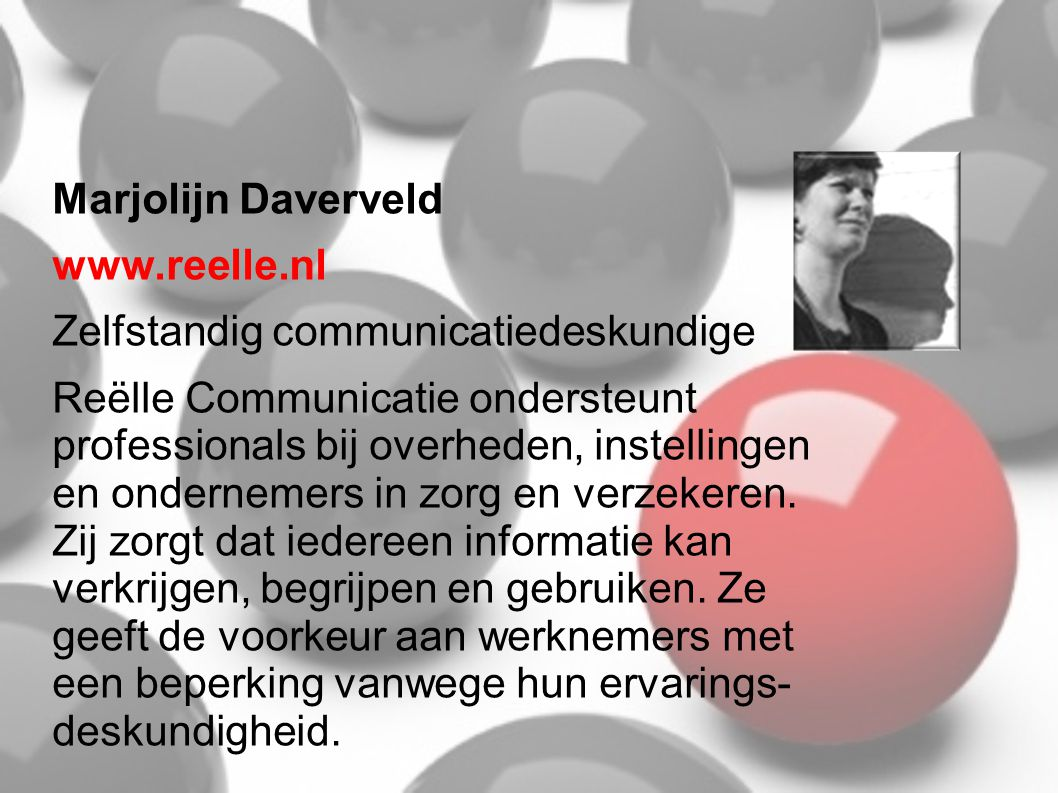 Michiel Pieters www.pmarbeidsreintegratie.nl Michiel heeft een re-integratiebedrijf voor mensen met een psychische beperking die een bedrijf willen starten..