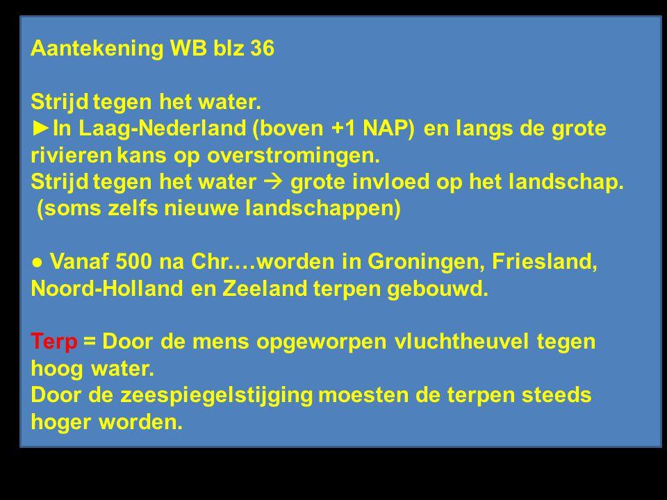 Aantekening WB blz 36 Strijd tegen het water.