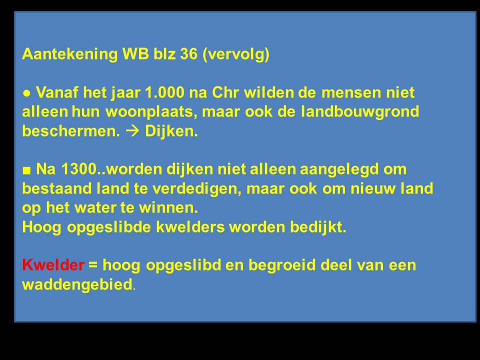 Aantekening WB blz 36 (vervolg) ● Vanaf het jaar 1.000 na Chr wilden de mensen niet alleen hun woonplaats, maar ook de landbouwgrond beschermen.