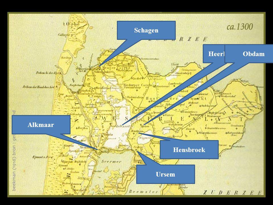 HeerhugowaardObdam Schagen Alkmaar Ursem Hensbroek Bestond jouw woonplaats al in 1300 ?