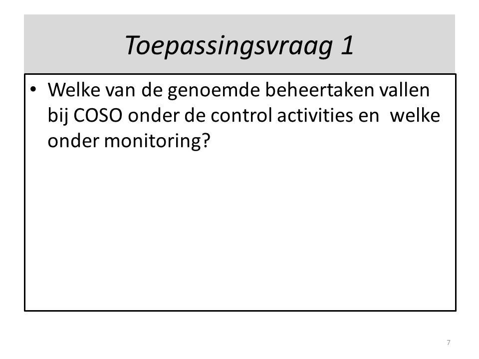 2.Doel en reikwijdte Doelen: 1.ondersteunen van analyse van bestaande processen; 2.