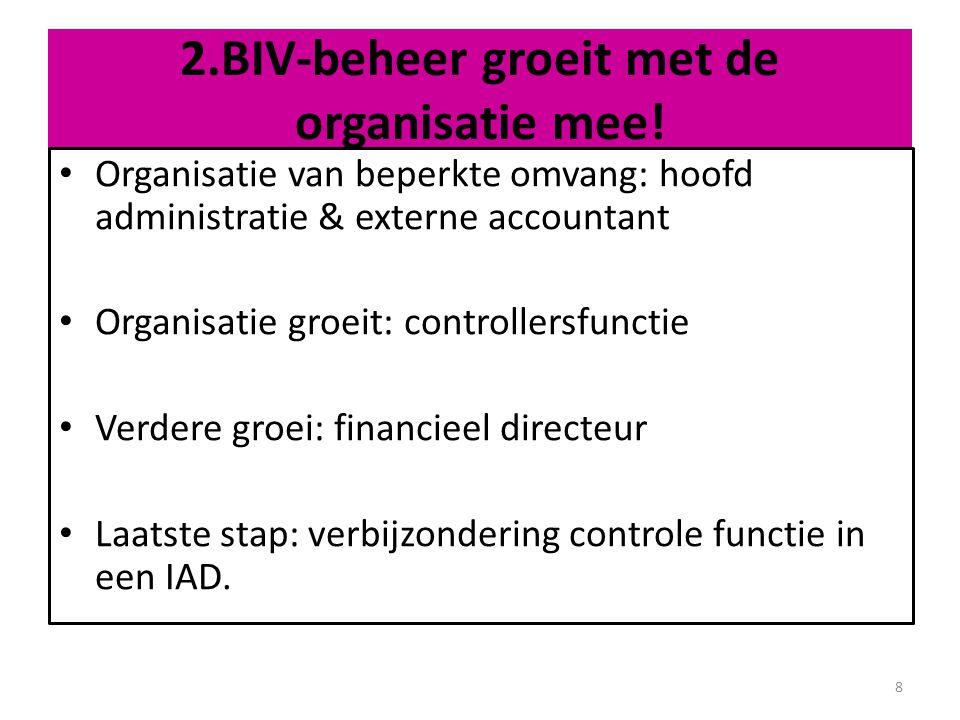 Reikwijdte: 1.gericht op betrouwbaarheid (verkrijgen goedkeurende controleverklaring); 2.gericht op betrouwbaarheid en beheersing; 3.anders.
