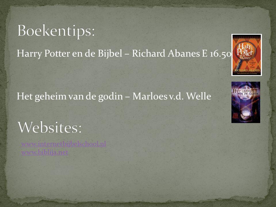 Harry Potter en de Bijbel – Richard Abanes E 16.50 Het geheim van de godin – Marloes v.d. Welle www.internetbijbelschool.nl www.biblija.net