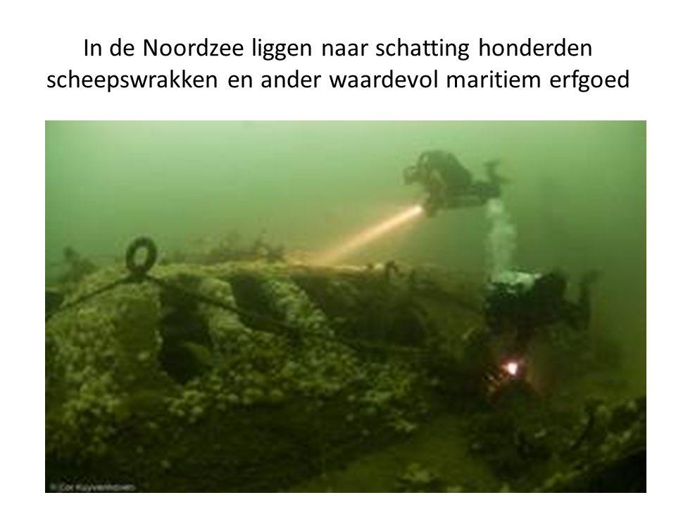 In de Noordzee liggen naar schatting honderden scheepswrakken en ander waardevol maritiem erfgoed