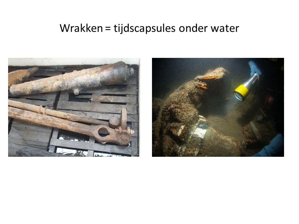 Wrakken = tijdscapsules onder water