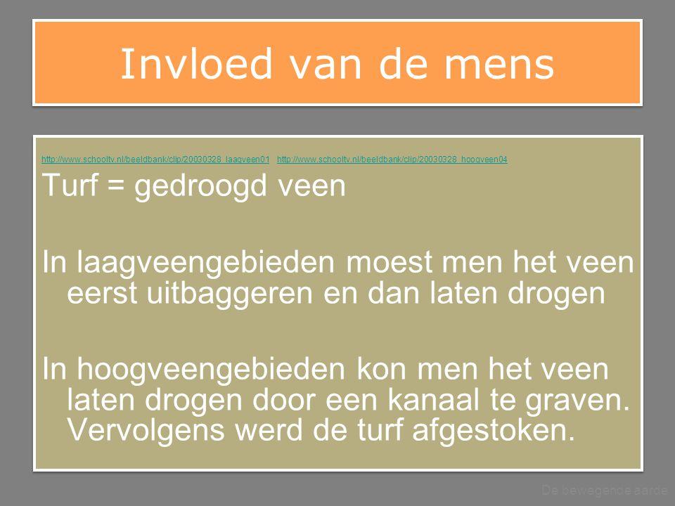 Invloed van de mens http://www.schooltv.nl/beeldbank/clip/20030328_laagveen01http://www.schooltv.nl/beeldbank/clip/20030328_laagveen01 http://www.scho